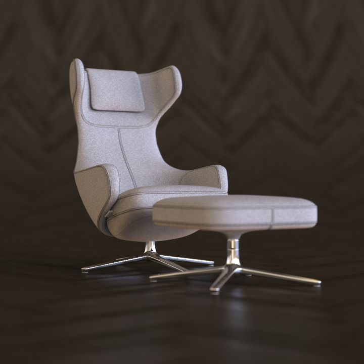 Vitra Grand Repos - rendered in KeyShot by Eric Altorf - Model by Dimensiva.com