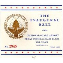 President Kennedy Inaugural Ball Ticket Collectible