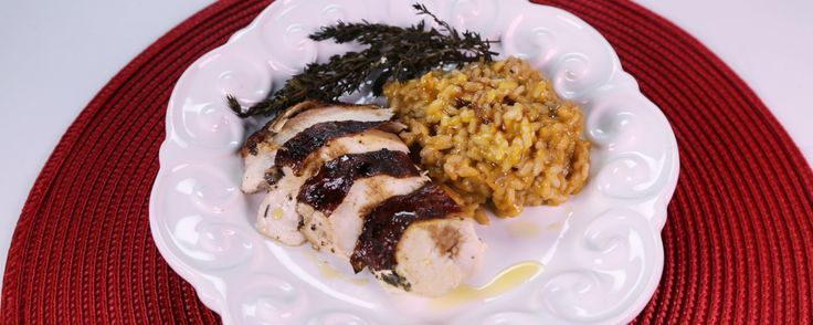 The chew - Mario batali - RED WINE STAINED CAPON AND RISOTTO This savory risotto is the perfect dish for your next gathering this holiday season.