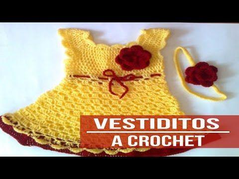 Vestidos Para Niña Tejidos a crochet - Diseños part 2 - YouTube