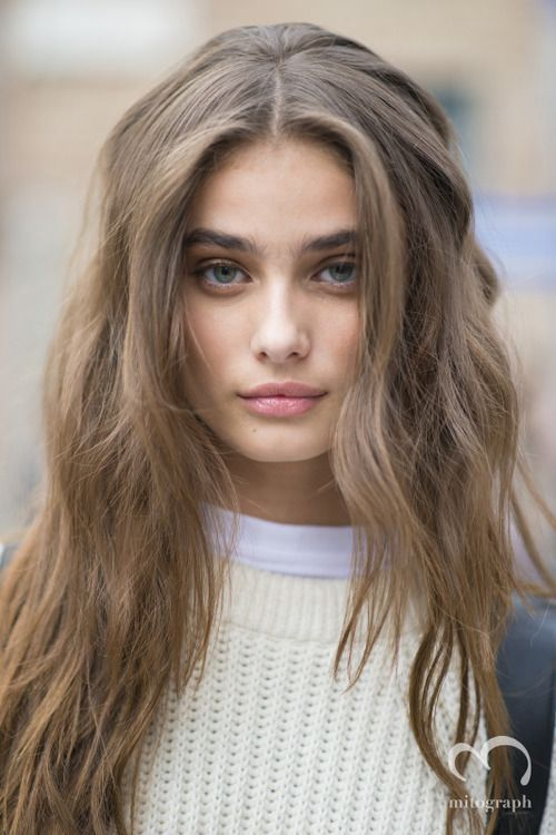 Taylor Hill - Milan Fashion Week Spring 2015. This is the closest thing to my hair that I have found on Pinterest.