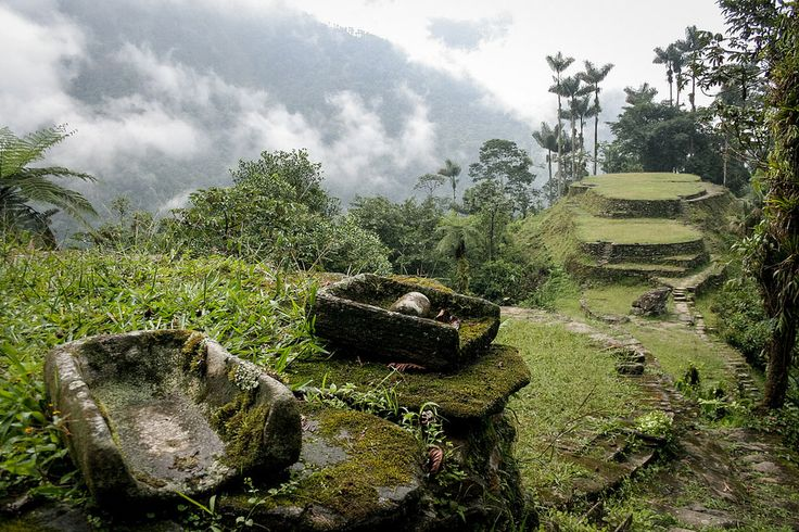 The Lost City - La Ciudad Perdida - More information of our packages at http://ift.tt/1iqhKT8 - 40 years ago they discovred this beautiful temple lost in the Jungle of Sierra Nevada. It was used by the Tayrona Civislisation which was living all around in the mountains. They were meeting there coming from all the villages around to practice ceremonies for mother earth but also weddings A five days walk in a really pure environment ! Photo @MathieuPerrotBorhinger More beautiful videos images…