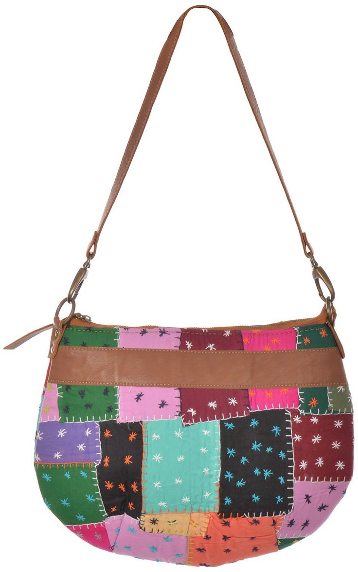 Styleincraft handmade designer Girl's handbag is made up of cotton and traditional (Ethnic) work with black border to give it stylish look. Antique designer Handbag has 2 compartments with Authentic Designing base. High quality chains and best raw materials used to provide 100% customer satisfaction