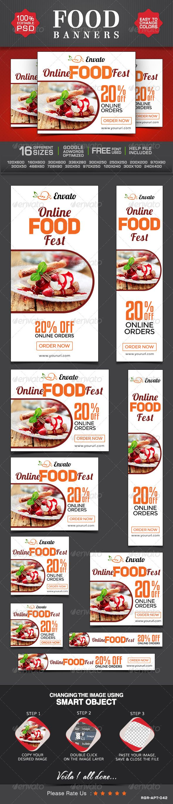 Restaurant and Cafe Banners Template PSD | Buy and Download: http://graphicriver.net/item/restaurant-and-cafe-banners/8495023?WT.ac=category_thumb&WT.z_author=BannerDesignCo&ref=ksioks