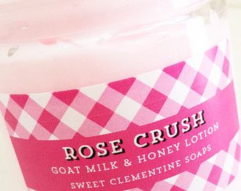 Rose Crush Lotion, Body Cream, Hand Cream, Hand Lotion, Moisturizer, Goat Milk, Turkish Rose, Geranium, Lemon, Tonka Bean, Citrus, Rose