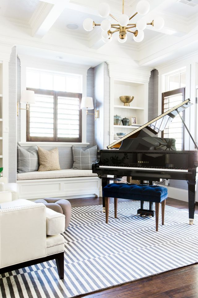 Best 25 piano bench ideas on pinterest upholstered for Piano room decor