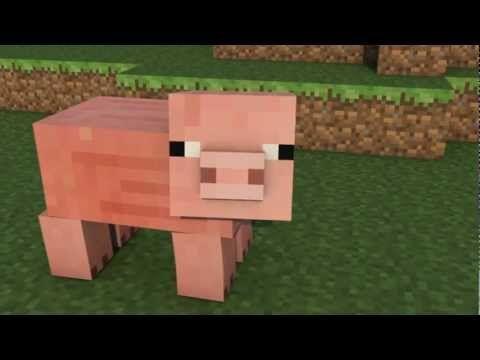 A Minecraft Pig Minecraft Animation Popscreen