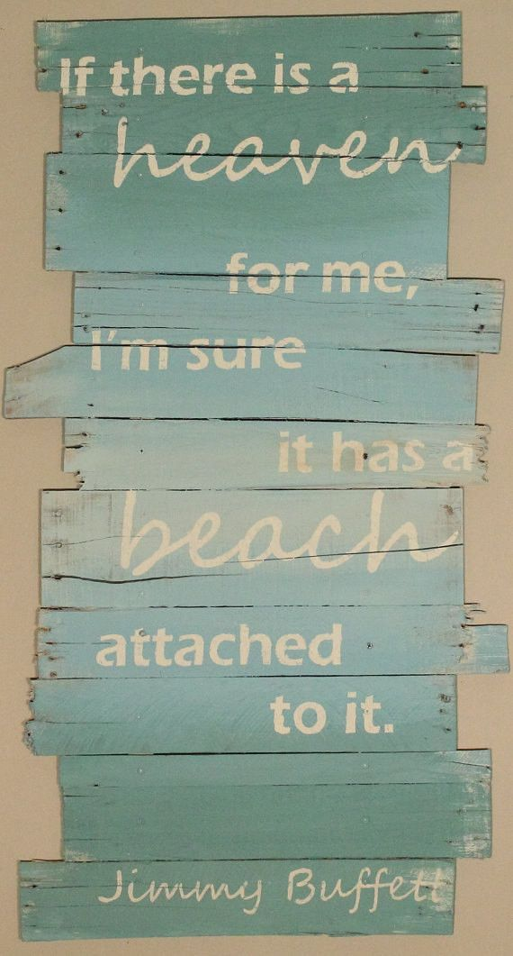 "Beach Decor Wall Hanging Beach and Jimmy Buffett 24"" x 43"""