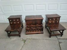 Charmant Beautiful Vintage Set Of 3 Ethan Allen Old Tavern Pine Lamp Tables