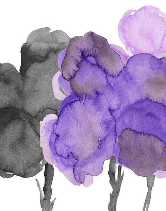 A Set Of 2 11x14 Floral Art Prints Composed Of A Bold Bouquets Of