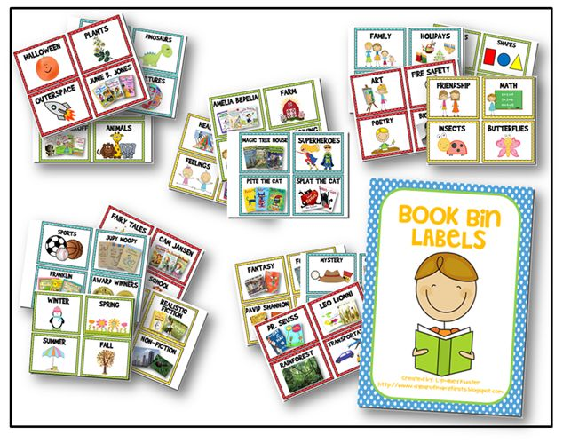 book bin labels--lots of other FREE printables too!