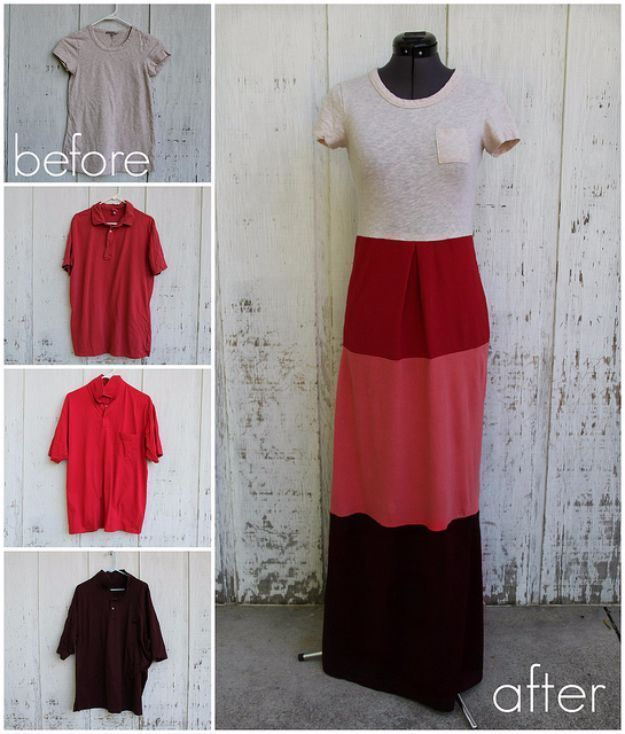 Cool Summer Fashions for Teens - Color Block Maxi Dress - Easy Sewing Projects and No Sew Crafts for Fun Fashion for Teenagers - DIY Clothes, Shoes and Accessories for Summertime Looks - Cheap and Creative Ways to Dress on A Budget http://diyprojectsforteens.com/diy-summer-fashion-teens #FashionAccessoriesforTeens