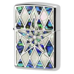 Armor Zippo Lighter Natural Shell Inlay Star Both Sides Design SV