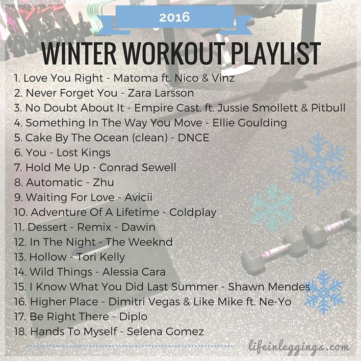 Need some music inspiration to get you moving this winter? Stream and download these new, upbeat tunes for your next workout!
