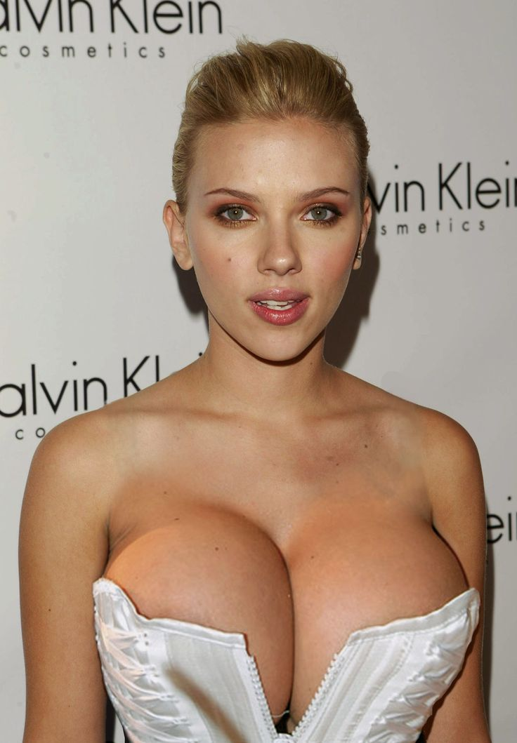 Boobs big scarlett johansson fake