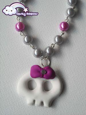 Collezione Halloween Kawaii Special - Collana Fashion Skull #kawaii #cute #sweet #handmade #jewels