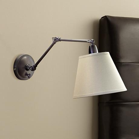 delcourt plugin swing arm wall lamp