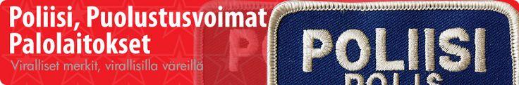 Poliisi ja Puolustusvoimat - Haalarimerkit, kangasmerkit, kaulanauhat ja pinssit