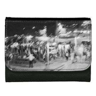 porte-feuille noir et blanc photo abstraite