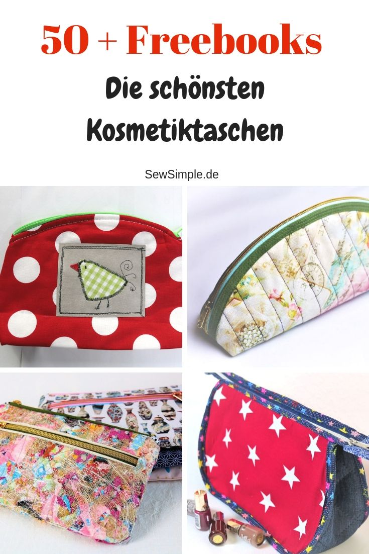 Freebooks: Kosmetiktasche, Kulturbeutel, Wash Bag & Co