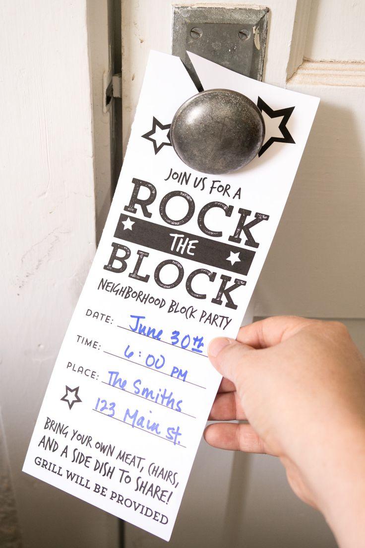 best 25  block party invites ideas on pinterest