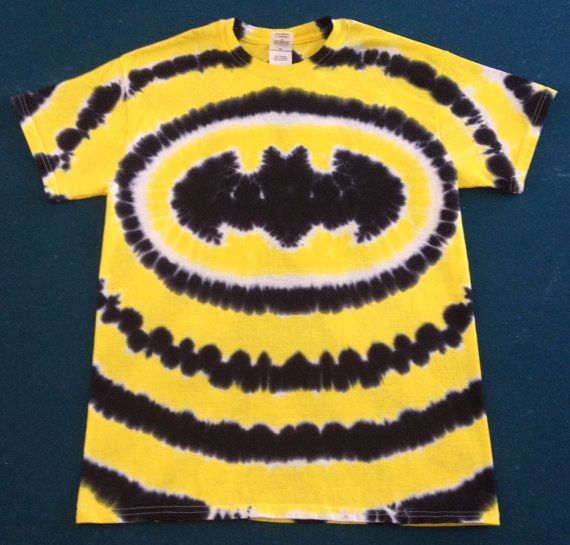 Batman Tie Dye Tye Die Free Shipping Handmade Super by tiedye4ink