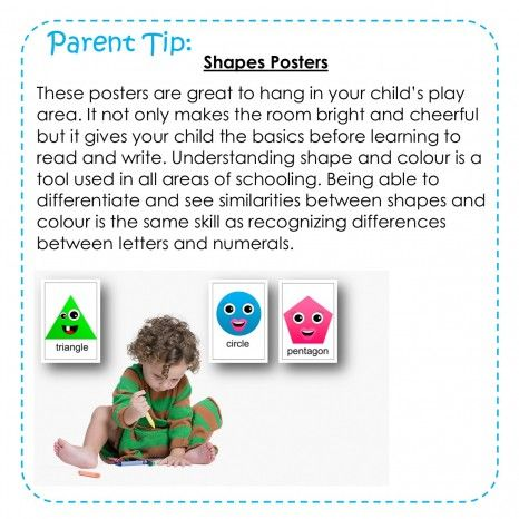 Parent Tip: Shape Posters