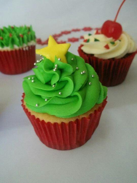 Cupcake arbol de navidad