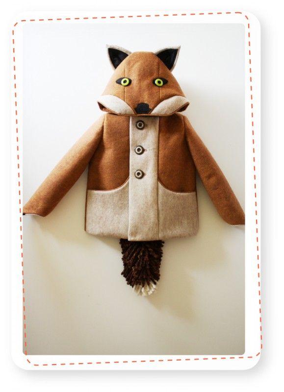 Fox coat - Kinderjas Vos (T5 = 4,5 / 5 Years) | Producten kinderjassen | Coaters; meer dan een jas; kinderjassen in de vorm van een dier
