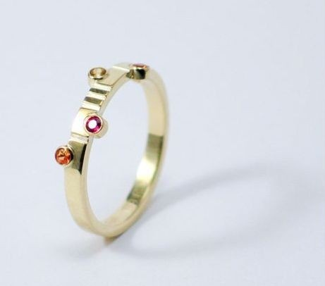 Gouden ring van Edelsmederij Walstraat 94