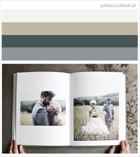 fotoksiążka ślubna przykład kolorystyki - inspiracje izziBook.pl  Fotoksiążka ślubna przykład