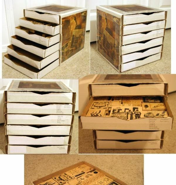 Club Scrap Pizza Box 6 Drawer Cube  This last weekend I was busy making some cards and for the life of me I couldn't remember if I had a Clu...
