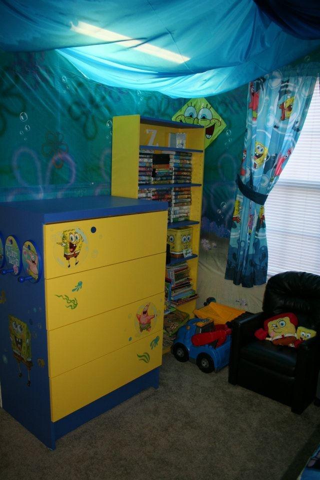 Spongebob Dresser And Bookshelf