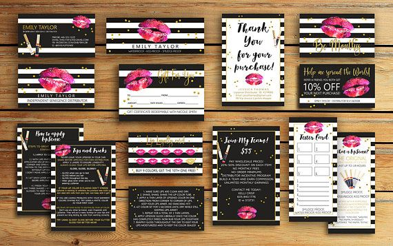 Lipsense Business Card LipSense Bundle Pack SeneGence