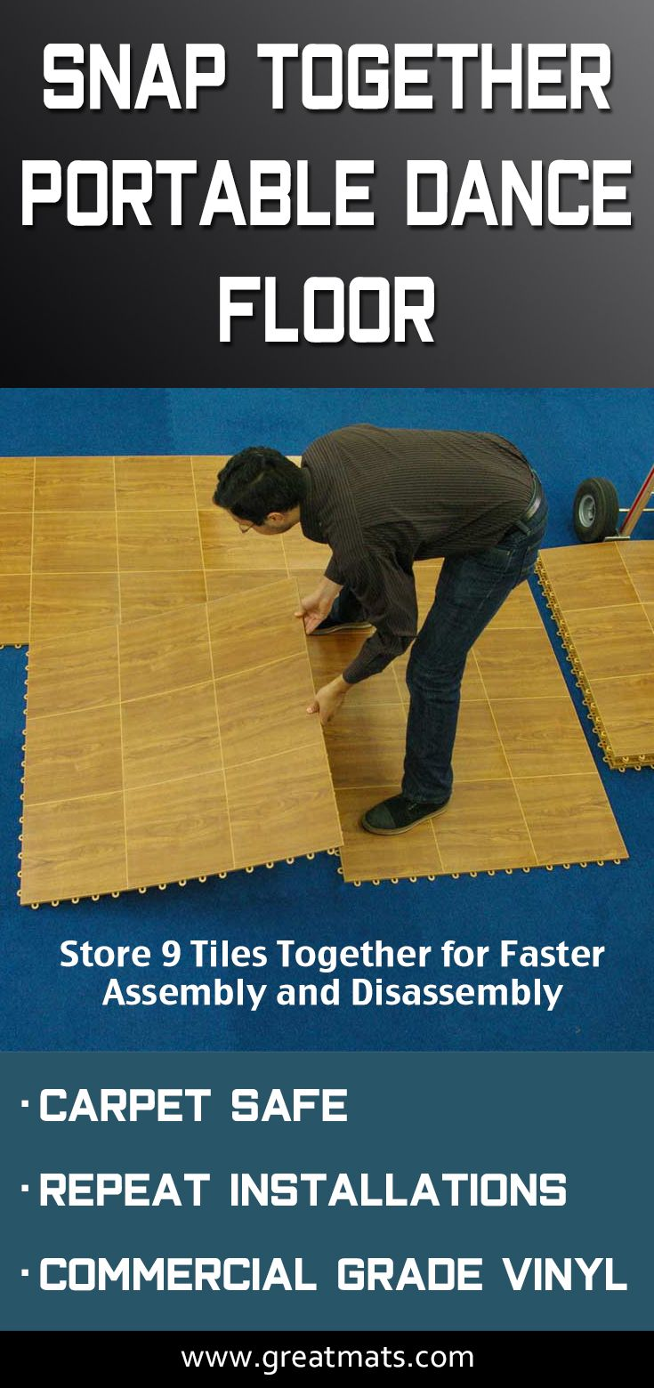 Greatmats Portable Dance Floor Tiles Are Easy To Snap Together For A Quick Installation
