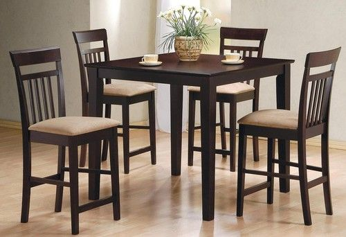 5 PC Cappuccino Counter Height Dining Table Set 150041 & 53 best Counter Height Dining Table Sets / Pub Table Sets images on ...