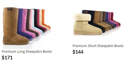 Aussie Boots Australia- This product is available only at aussie products .This gorgeous footwear style has originated in Australia, the birthplace of sheepskin Aussie boots style