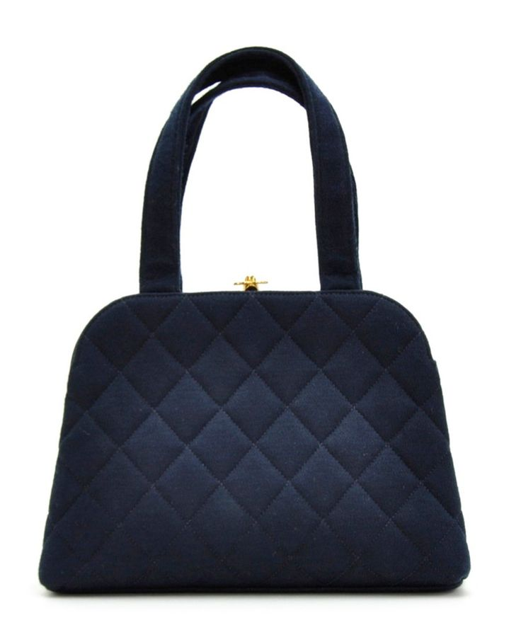 Black & white classic tweed 26 handbag by Chanel on secretsales ... : navy quilted handbag - Adamdwight.com
