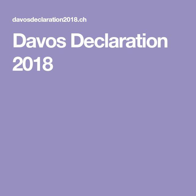 Davos Declaration 2018