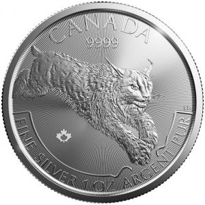 2017 Canadian Silver Lynx The Lynx coin marks the second release in the beautiful Predator Series from the Royal Canadian Mint. With it's elusive behavior and nocturnal habits, the solitary Canadian Lynx has earned its reputation as a keeper of secrets. The Predator series of Canadian silver has been a very popular issue with investors and collectors alike. The mintages are capped at just 1 million, adding to their desirability.