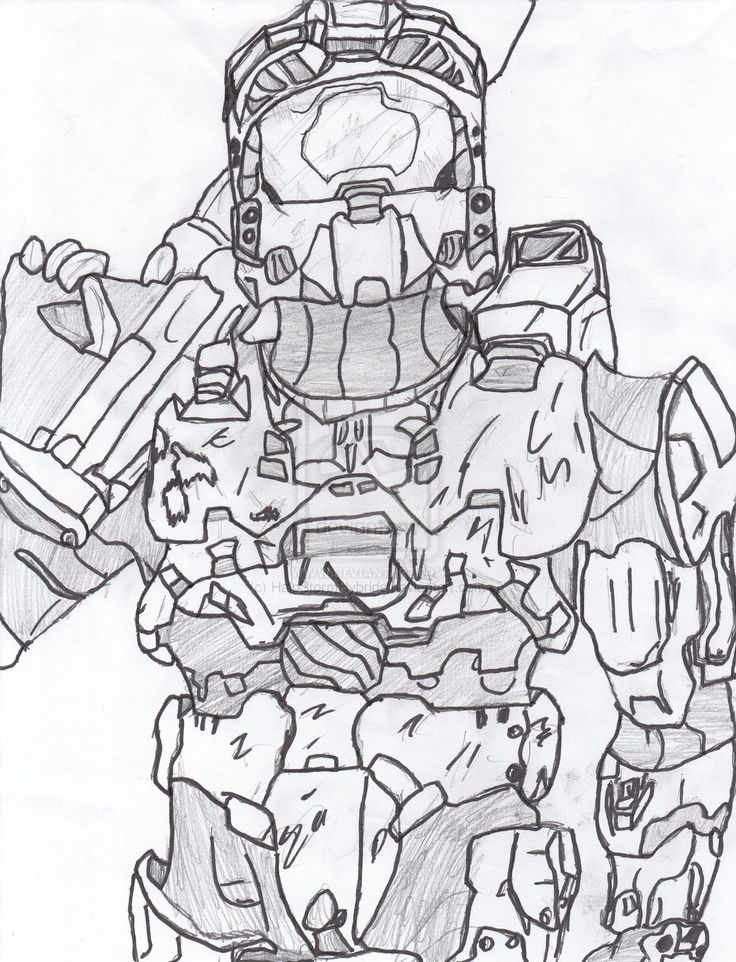 coloring pages halo 3 - photo #29