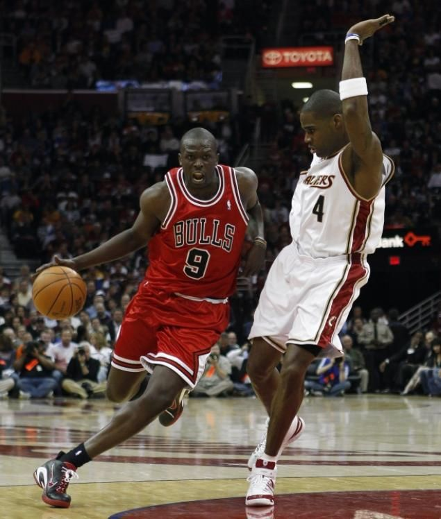 Luol Deng of the Chicago Bulls (l.) had he highest per-game running average of any NBA player in 2012, according to STATS, which was 2.72 miles.