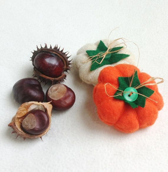 Pumpkin felt ornament set of 2, Halloween ornament felt, Autumn, Halloween, Thanksgiving decor, Fall decoration, handmade, home decoration