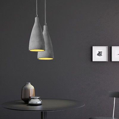 Concrete Pendant Light Contemporary Beer Hanging Lamps Chandelier Lighting