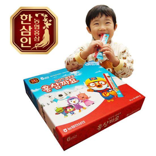 Korean Hansamin Pororo Stick 6Years Red Ginseng for Kids Children 20ml X 30ea  #HanSamInKoreanHealthFood