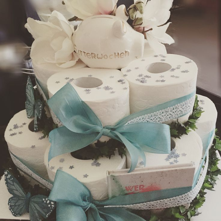 Toiletpapercake, wedding cake   Toilettenpapiertorte zur Hochzeit   DIY idea for a wedding present