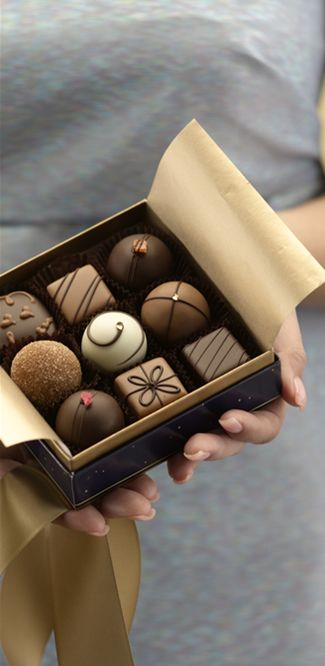 I received some Moonstruck Chocolate 9-Piece Classic Collection of Gourment Chocolates & Truffles for my birthday. Yum!