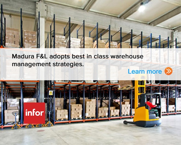 Madura F adopts best in class warehouse management strategies. Learn More.