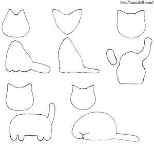 Patterns for felt cats: Cat Printable, Cat Gatos, Felt Crafts, Felt Cat Or, Felts, Felt Cat Tuto, With Cats, Patterns For Felt Animal, Felt Cat Patterns
