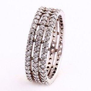 925 ayar, full taşlı, gümüş bayan yüzüğü